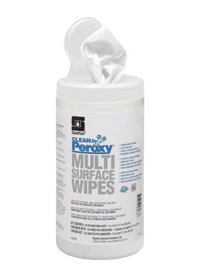 004206 Clean by Peroxy Multi Surface Wipes - 6(6/125)