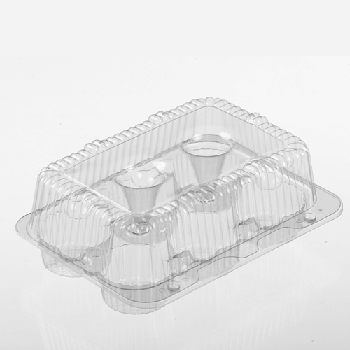 02020 Clear 6 ct. High Top Muffin/Cupcake Hinged