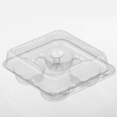 02086 Clear 4 Count Muffin/Cupcake Containers -