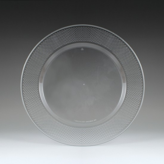 "CC10016 Concord Clear 10.25"" Full Size Dinner Plates -"