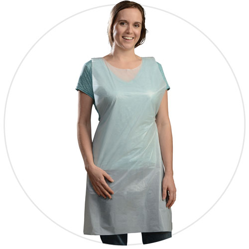 "P2846 White Smooth Poly Aprons (28"" x 46"" x .001"") -"