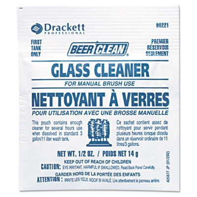 DVO990221 Beer Clean Glassware Cleaner (.5oz pouch) - 100