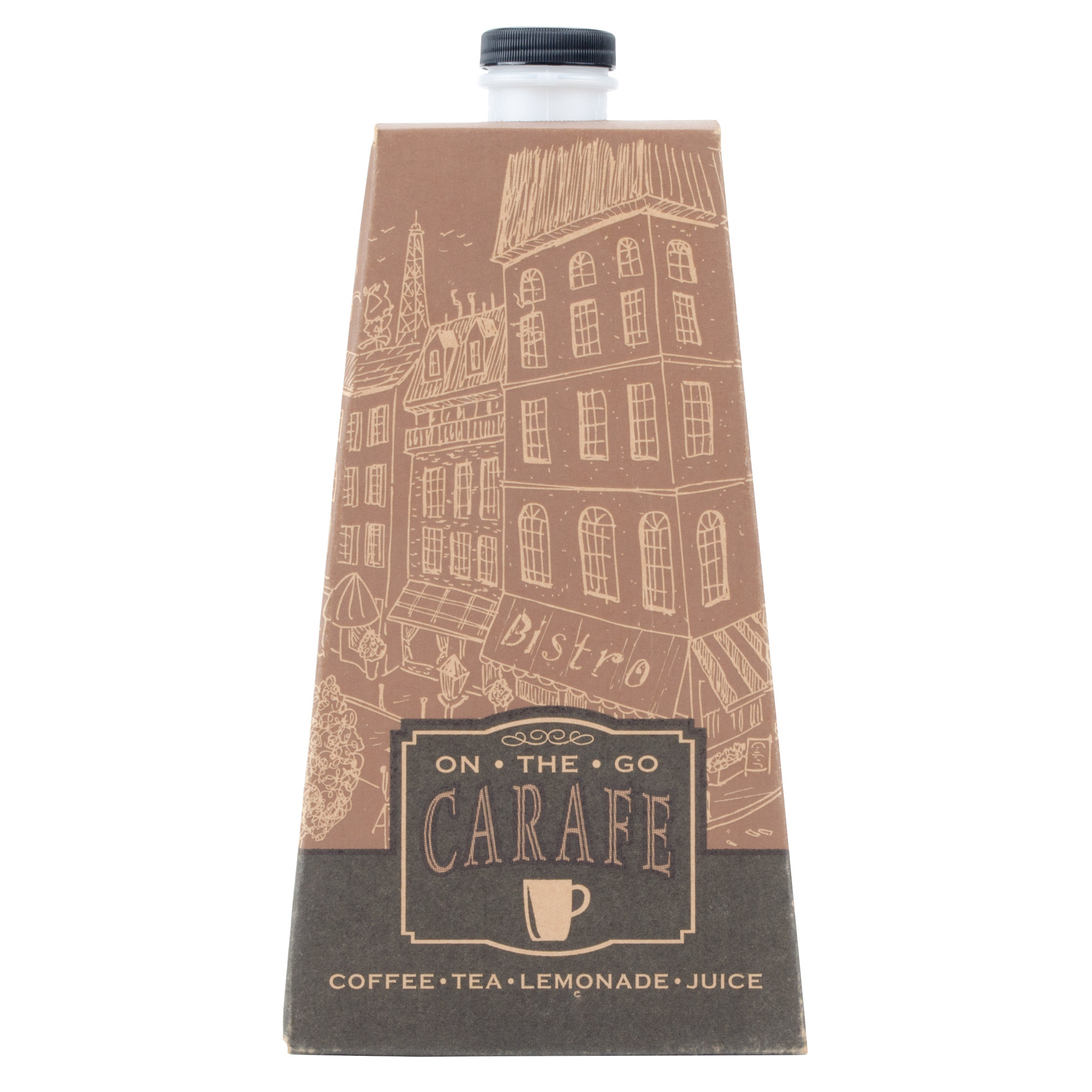 "0196 ""On-The-Go"" Carafe Corrugated Hot/Cold Beverage"