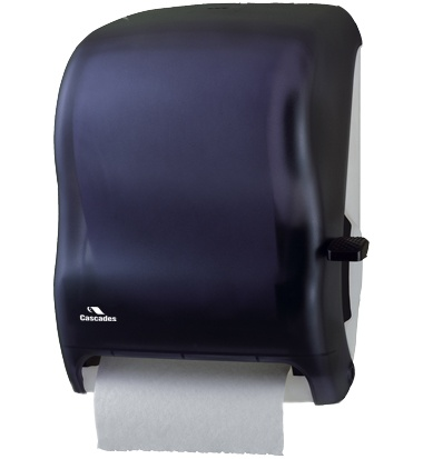 DH37 Black Lever Roll Towel Dispenser - 1