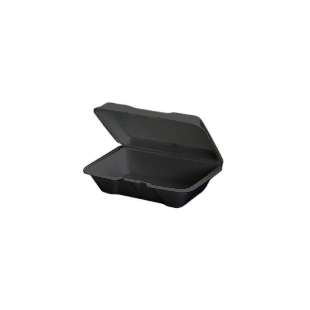 20500-3L Black 1 Sec Utility Hinged Container - 200 (2/100)