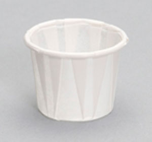 F050 1/2oz Pleated Paper Souffle Portion Cup - 5000