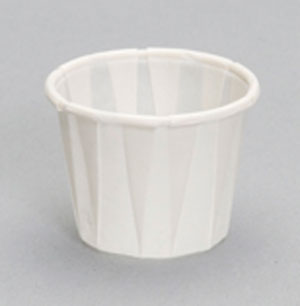 F100 1oz Pleated Paper Souffle Portion Cup - 5000
