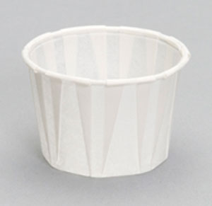 F200 2oz Pleated Paper Souffle Portion Cup - 5000