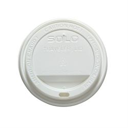 TLP316-0007 White Traveler Sip Through Dome Hot Cup Lid