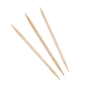 R820 Round Wood Toothpicks - 19200 (24/800)
