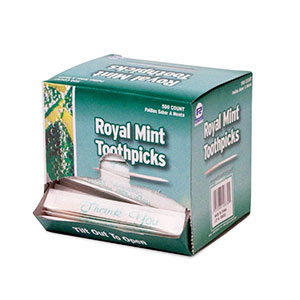 RM125 Mint Paper Wrapped Toothpicks - 6000 (12/500)