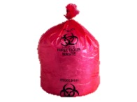 "HD44RE Red 36"" x 48"" 17 Mic. Infectious Waste Liners - 250"