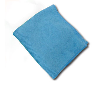 MS-BL40300 Blue 16x16 Microfiber Cloths - 25