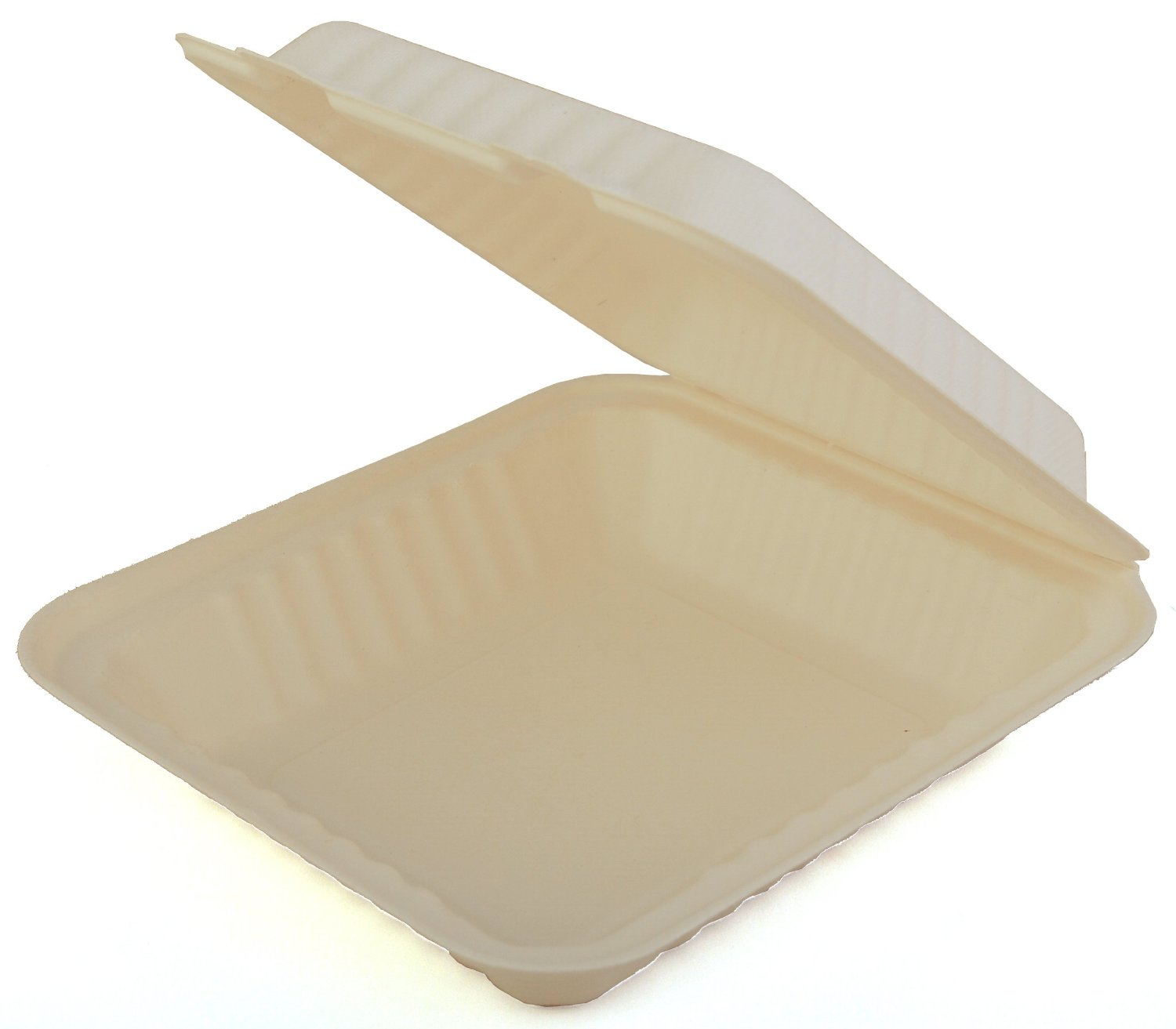 "18935/42SHD9 White 9"" Molded FiberHinged Containers -"
