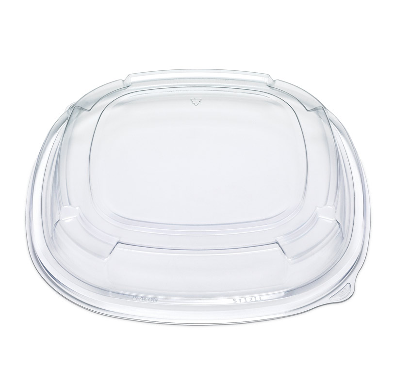 "ST12LL Fresh n Clear PET 12"" Low Dome Catering Lid (Cold)"