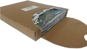 "5C14 10.5"" x 14"" Plain Foil Thermo Sandwich Wrap - 2500"
