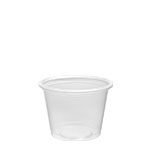 100PC 1 oz. Clear Portion Cups (Fits PL1N Lid) -
