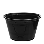 400PCBLK 4 oz. Black Portion Cup (Fits PL4N Lid) -
