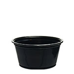 200PCBLK 2 oz. Black Plastic Portion Cup (Fits PL2N) -