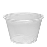 400PC Translucent 4 oz. Plastic Portion Cups (Fits