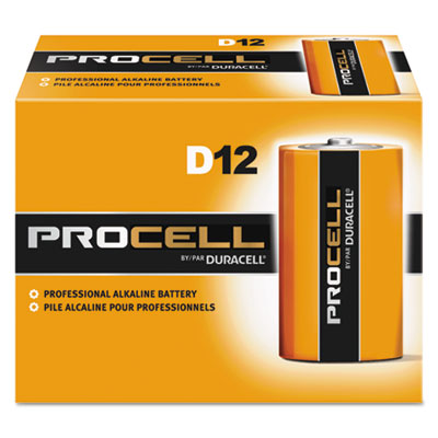DRC-PC1300 Procell D-Cell Alkaline Batteries - 12