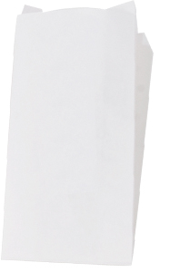 "300331 White 4.75x 3"" x 12"" Deli Carryout Paper/Poly"