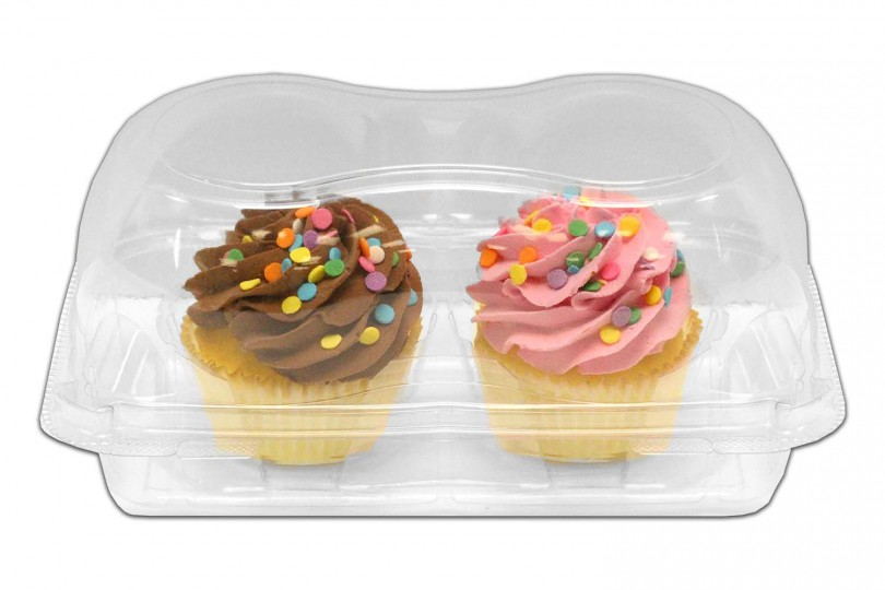 KP202 Jumbo 2-Count Clear Cupcake Containers - 220