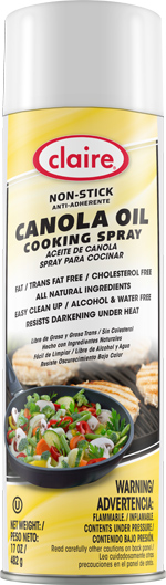 CL8276 Non-Stick Canola Oil Cooking Spray - 6 (6/17oz.)