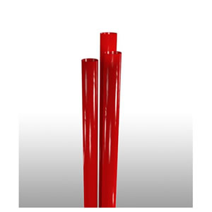 "STNJM2601005 Red 10.25"" Jumbo Paper Wrapped Straws -"