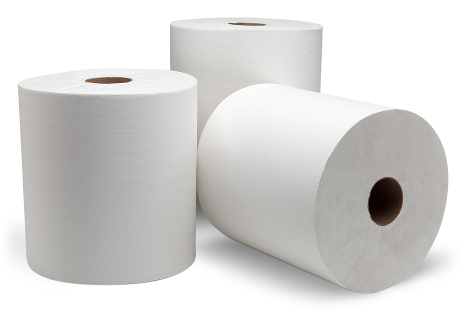 "44040/214404 DublNature White Universal 8""x1000' Roll Towel"
