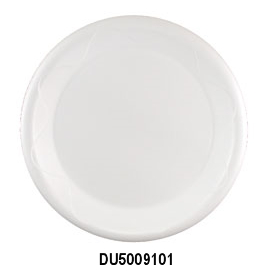 "DU5009101 White 9"" Unlaminated Foam Plates -"
