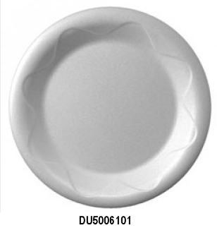 "DU5006101 White 6"" Unlaminated Foam Plates -"