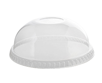 3198DL Clear PET Dome Lid without Hole f/ 12-24oz Cups