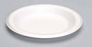 "80600 6"" White Unlaminated Foam Plates - 1000 (8/125)"