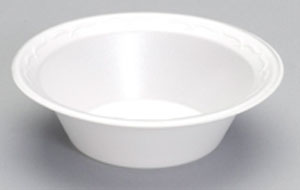 82100 12oz White Unlaminated Foam Bowls - 1000 (8/125)