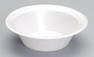 80500 5oz White Unlaminated Foam Bowls - 1000 (8/125)