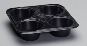 55304-8B 4ct (5oz cups) Muffin Ovenable Tray (up to 400) -