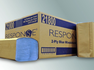 "21800 Blue Windshield 2-Ply Towels (10.25"" x 9.25"") -"