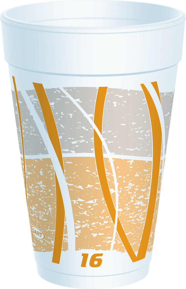 16J16E Impulse 16 oz Print Foam Cups - 1000(40/25)