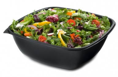 94320 320 oz. Black Square Bowls - 25