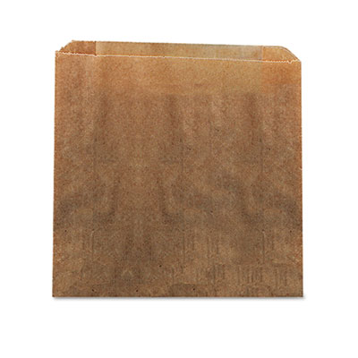 HOS6141 Waxed Kraft Paper Receptacle Liners (9x10x3.25)
