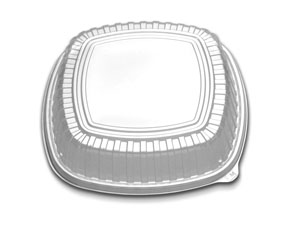 "CL213-129-1 Clear Forum 12"" High Dome Lids - 60(2/30)"