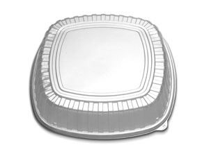 "CL213-169 Clear Forum 16"" High Dome Lids (Warm) -"