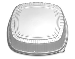 "CL213-189-1 Clear Forum 18"" High Dome Lids - 60(2/30)"