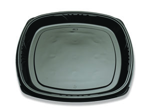"BP713-160 Black Forum 16"" Cater Trays (Warm) - 50(2/25)"