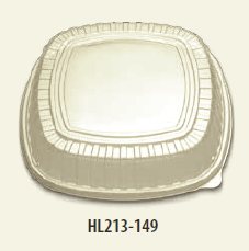 "HL213-149-1 Clear Forum 14"" High Dome Lid(Fits BP713-140 &"