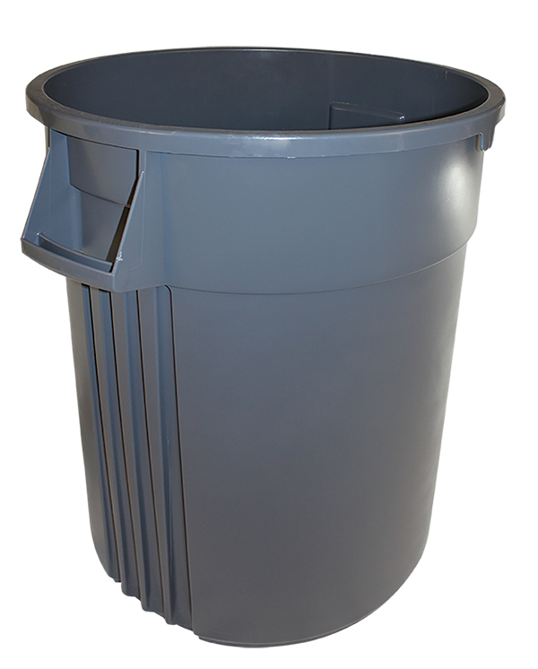 7744-3 Gray 44 Gallon Vented Gator Trash Container - 1