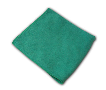 LFK300/MS-GR40300 Green 16x16 MIcrofiber Cloths - 25