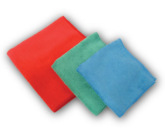 MS-RD40300 Red 16x16 Microfiber Cloths - 25