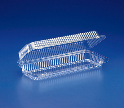 SLP65 Clear PET Danish Hinged Container - 250